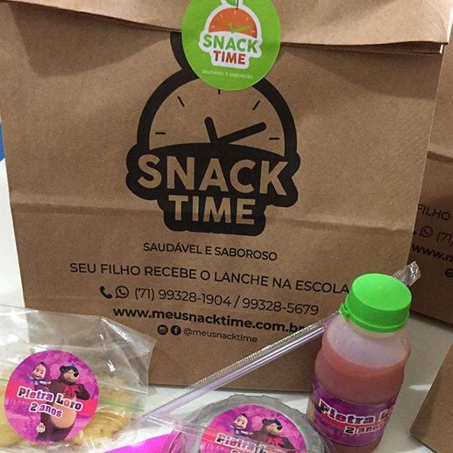 Sacola Kraft - Snack Time